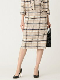 [Rakuten Fashion]【SALE/36%OFF】リリアンチェックツイードスカート TO BE CHIC トゥー ビー シック スカート ロングスカート ベージュ【RBA_E】【送料無料】