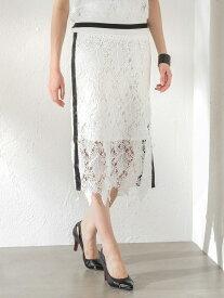 【SALE/47%OFF】【GUILDPRIME】レーススカート LOVELESS ラブレス スカート ロングスカート ホワイト ブラック【RBA_E】【送料無料】[Rakuten Fashion]
