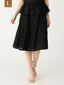 【SALE/38%OFF】【L】ボタニカルレーススカート TO BE CHIC(大きいサイズ) サンヨー エルサイズ スカート ロングスカート ブラック ベージュ【RBA_E】【送料無料】[Rakuten Fashion]