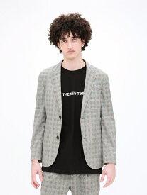【Safari5月号掲載】クールドッツ ジャケット LOVELESS ラブレス コート/ジャケット テーラードジャケット グレー ブルー【送料無料】[Rakuten Fashion]