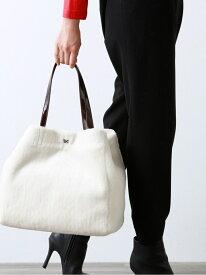 [Rakuten Fashion]【SALE/38%OFF】フェイクファームートンBAG AMACA アマカ バッグ トートバッグ ホワイト カーキ【RBA_E】【送料無料】