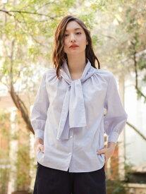 【SALE/47%OFF】FITTY POPLIN ブラウス AMACA アマカ シャツ/ブラウス 長袖シャツ ブルー ホワイト ピンク【RBA_E】【送料無料】[Rakuten Fashion]