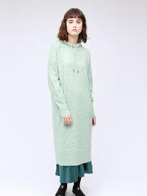 [Rakuten Fashion]【SALE/61%OFF】パーカーニットドレス LOVELESS ラブレス ワンピース シャツワンピース グリーン ホワイト ベージュ【RBA_E】【送料無料】
