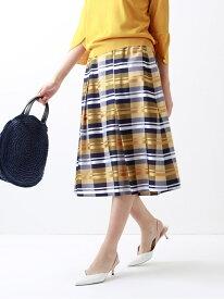 [Rakuten Fashion]【SALE/51%OFF】*STORY掲載*【ITALYFABRIC】【ウォッシャブル】カラーファンシーブロックチェックスカート TRANS WORK トランスワーク スカート ロングスカート イエロー ネイビー【RBA_E】【送料無料】