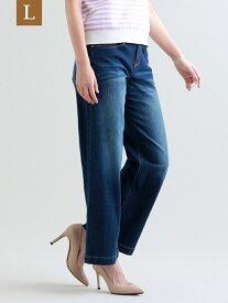 [Rakuten Fashion]【L】【ウォッシャブル】ストレッチデニムパンツ TRANS WORK(大きいサイズ) サンヨー エルサイズ パンツ/ジーンズ パンツその他 ネイビー ホワイト【送料無料】