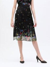 [Rakuten Fashion]【SALE/45%OFF】nowartt シアー レイヤード スカート LOVELESS ラブレス スカート ロングスカート ブラック【RBA_E】【送料無料】