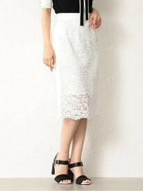 [Rakuten Fashion]【SALE/68%OFF】【LOVELESS】WOMENレースタイトロングスカート LOVELESS ラブレス スカート ロングスカート ホワイト ピンク【RBA_E】【送料無料】