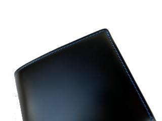 二つ折財布【送料無料】日本で唯一のコードバンタンナー・新喜皮革社製コードバン×本ヌメ革BOX型小銭入れ付二つ折財布10P30May15