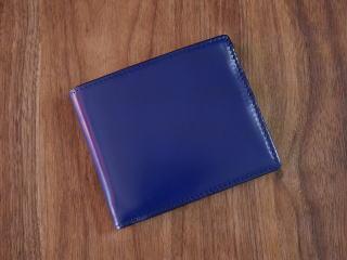 二つ折財布【送料無料】コードバン(馬尻革)×本ヌメ革カード札入れ二つ折財布(小銭入れ無し)10P03Dec16