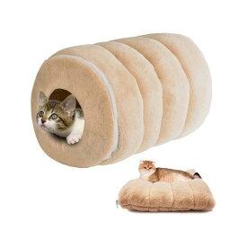 【送料無料】猫ハウス 可愛いペットクッション トンネル ベッド 猫ハウス ドーム型 ペットベッド キャットハウス
