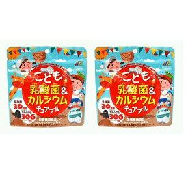 こども乳酸菌&カルシウム チュアブル 90粒 ヨーグルト味 2袋セット ユニマットリケン タブレット カルシウム 送料無料
