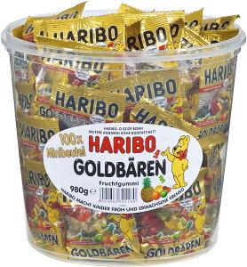HARIBO ハリボー グミ 100袋入り ミニゴールドベア コストコ 送料無料 おやつ フルーツグミ 小分け 濃縮還元 りんご いちご ラズベリー オレンジ レモン パイナップル