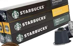 コストコ Costco ネスプレッソ スターバックス カプセル コーヒー 10P×6箱 送料無料 Nespresso パイクプレイス ブロンド エスプレッソ ロースト