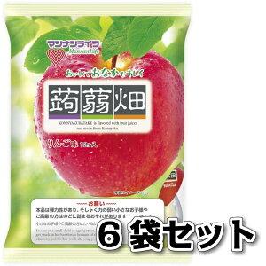 マンナンライフ 蒟蒻畑 りんご味 12個入り 6袋 送料無料 こんにゃくゼリー ゼリー こんにゃく畑