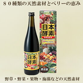 ●日本酵素 健康フーズ 720ml 植物発酵液 日本製  酵素ドリンク 酵素エキス 80種類の厳選素材 ダイエットサポートにも
