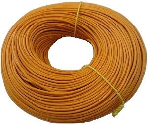 <電線・カラーコード電線通販・販売>カラーコード電線<1巻約100m・橙3・AVR0.5> 塩化ビニル絶縁電線・コード<cod-163>