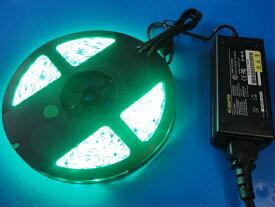 LEDテープ 5m 防水LED 緑色間接照明 看板照明 LEDテープライト 緑色<led-604>