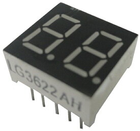 <7セグ 7セグメントLED通販・販売><LG3622AH カソードコモン 7セグ2桁 赤>1個入<led-902>