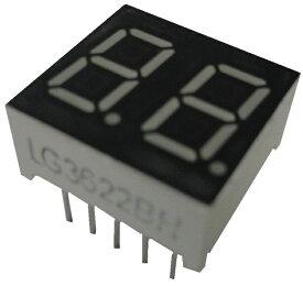 <7セグ 7セグメントLED通販・販売><LG3622BH アノードコモン 7セグ2桁 赤>1個入<led-903>