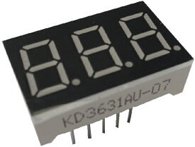 <7セグ 7セコグメントLED通販・販売><KD3631AU-07 カソードモン 7セグ3桁 赤>1個入<led-904>