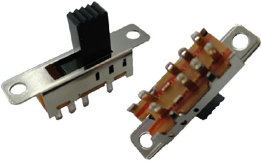 スライドスイッチ<スライドスイッチ2回路3接点 柄長7.5mm>5個<swp-117>