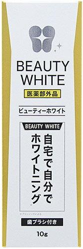 日本歯科医も認めた新技術ポリリン酸配合 歯ブラシ付き 薬用ビューティーホワイト 訳あり パッケージ汚れの為 あす楽対応