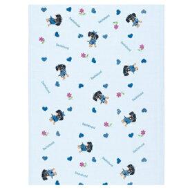 10/29まで秋SALE【10Pオフ】【定形外郵便対応】布ごよみ てぬぐい ダックスフンド ブルー タオル 日本製