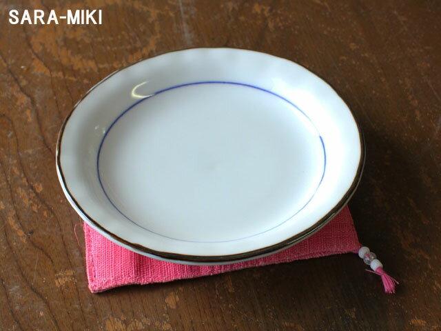 白磁2色ライン 3.5皿 【アウトレット/小さめ取り皿/醤油/漬物/箸休め】