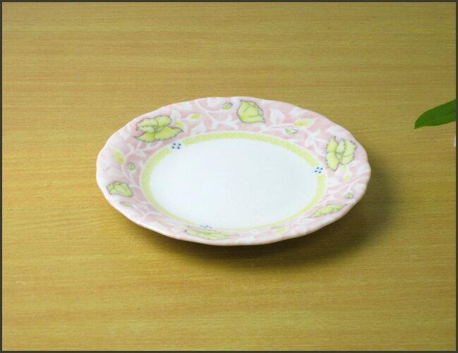 ピンク小花取り皿