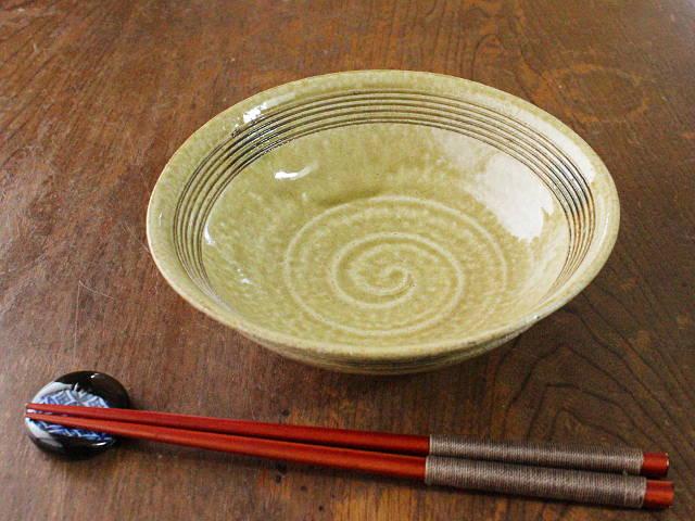 【アウトレット】【手づくりの器】【陶磁器】黄瀬戸笠型平鉢