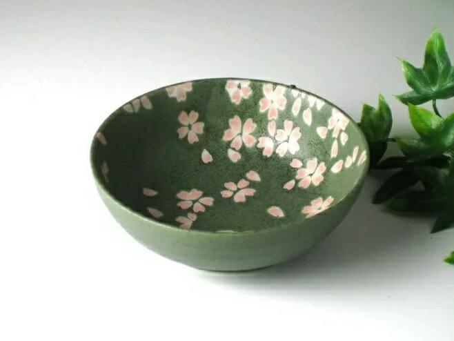 桜 小鉢 (緑)