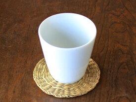 【アウトレット】白磁V型フリーカップ 口径8cm×高さ8cm
