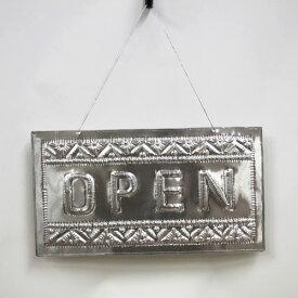 ハンドメイドで作られたアルミアートのウェルカムプレート OPEN・CLOSED【メール便不可】シンプルなカラー、 シンプルなデザインでとっても可愛い
