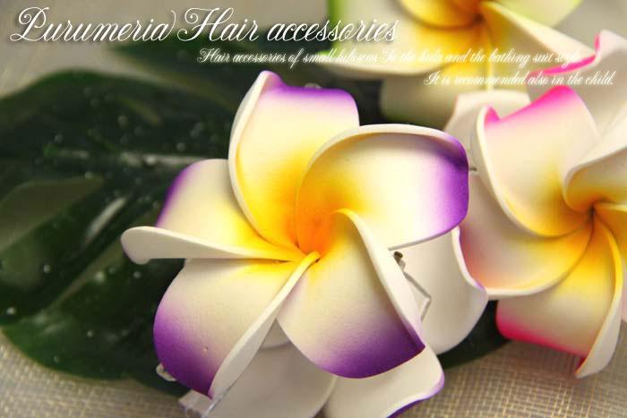 """値下げしました!プルメリアヘアクリップ【メール便不可】プルメリアの花言葉は""""気品""""""""恵まれた人""""その花言葉のとおり気品溢れる上品な雰囲気と可愛らしさのあるお花です。"""