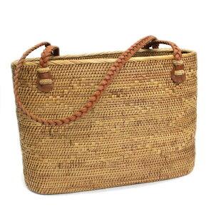 大容量シンプルアタバッグ 編み紐デザイン【送料無料】アジアン エスニック バリ雑貨 かごバッグ カゴバッグ 籠