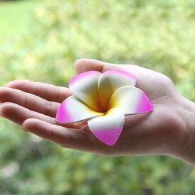 シンプルスポンジプルメリア(ピンク)【メール便OK】お部屋に飾るだけでアジアンリゾート。スポンジ素材でふんわり柔らか♪手の平サイズの可愛い造花、フランジパニ、フローティングフラワー