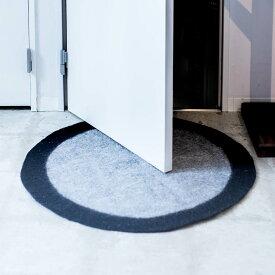 玄関マット 室内 ラグマット 円形 [b2c フェルトシートラグ-S φ60cm] エントランスマット#SL_IF