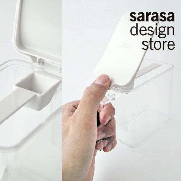 スクエアタイプで効率よく収納ができる調味料入れ [b2c スパイスコンテナ] サラサデザインストア