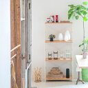 ラック レンジ台 キッチン収納 木製 ホワイト [nspラック/トール 突板タイプ(標準セット/棚板4枚)]