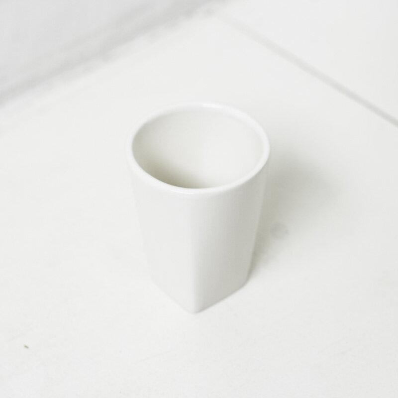 歯磨きコップ 歯磨き コップ ハミガキコップ [b2c セラミック/タンブラー(スクエア)]
