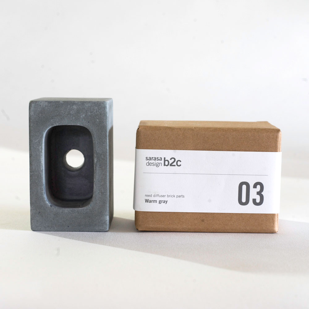リードディフューザー ルームフレグランス [パーツ販売|b2c ブリック用 コンクリートパーツ(スクエア)] アロマディフューザー サラサデザインストア