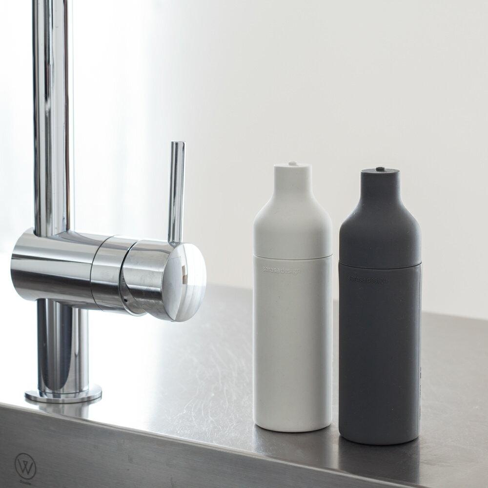 果汁を絞り出すように使えるキッチン洗剤詰め替えボトル・ソープディスペンサー [b2c スクィーズボトル ]