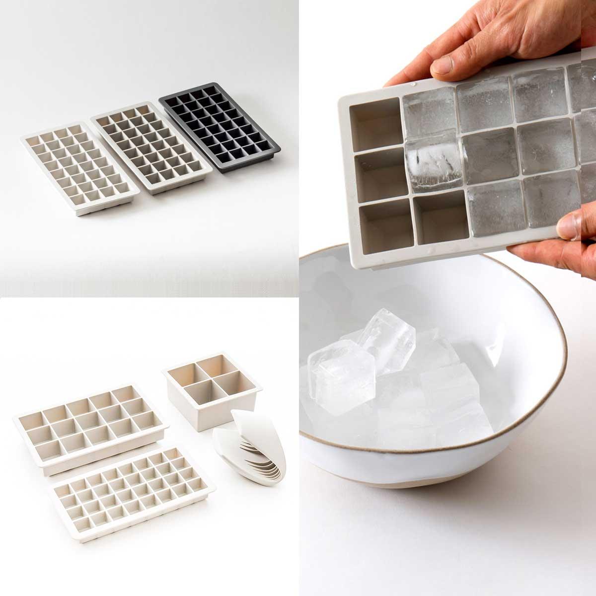 シンプルなスクエア型のアイストレー・製氷皿 [シリコン アイスキューブトレイ S]