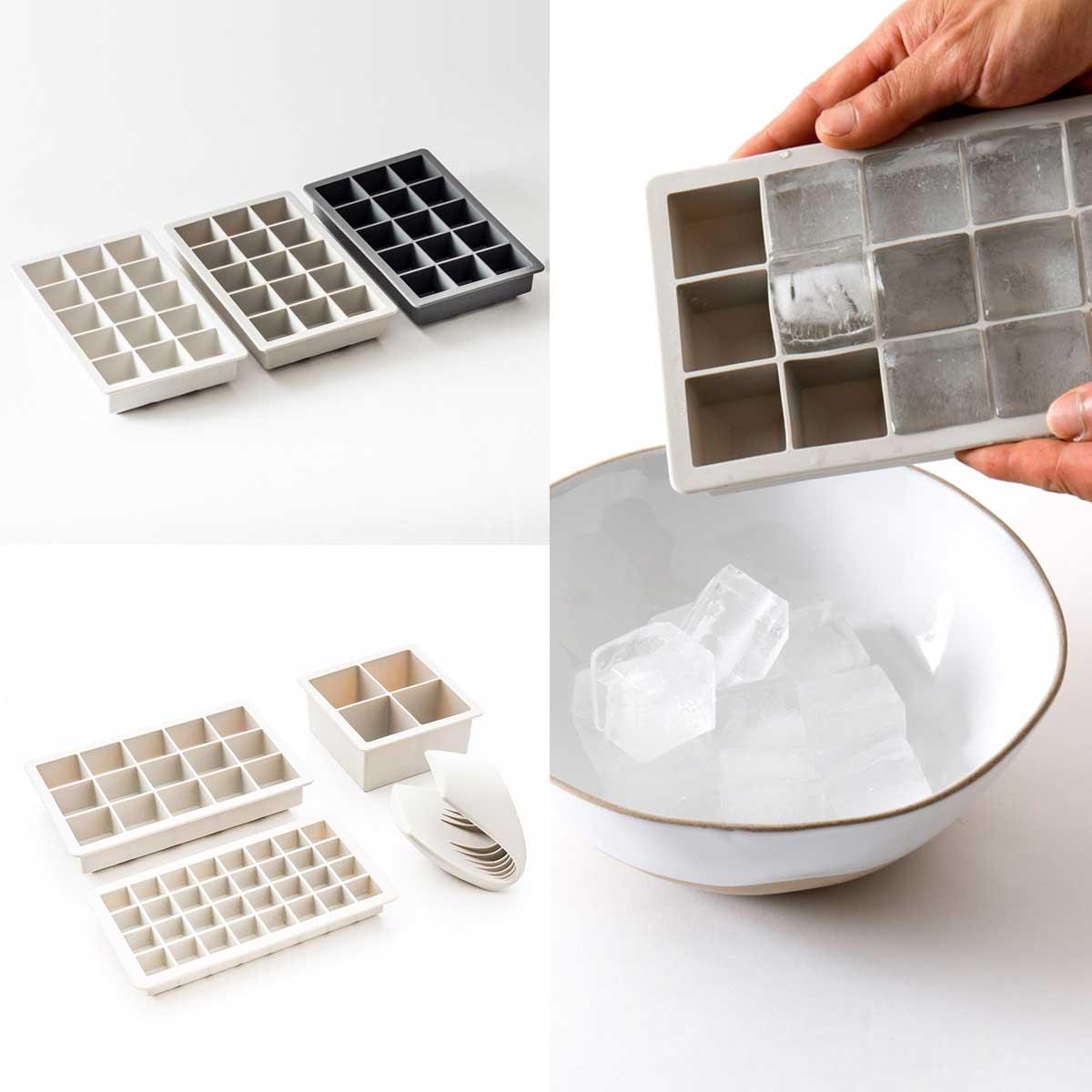 シンプルなスクエア型のアイストレー・製氷皿 [ シリコン アイスキューブトレイ M]
