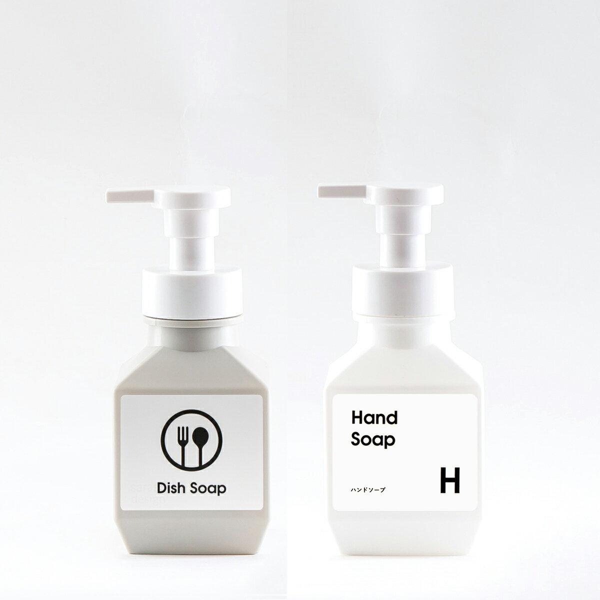 シンプルで多目的に使える詰め替えボトルのポンプタイプ、ソープディスペンサーやシャンプーボトルやキッチン洗剤容器に[ムースボトル PET 280ml]