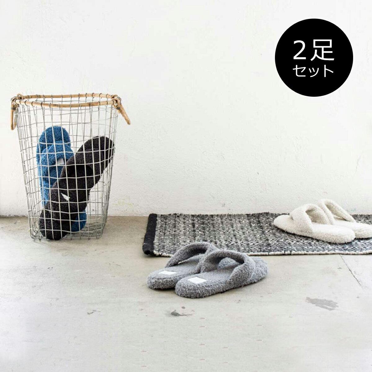 当店通常価格¥3,888 [お得なセット販売●b2cパイルトング スリッパ(メンズ・レディース)2足セット]