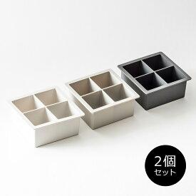シリコン 製氷皿 [セット販売●b2c シリコン アイスキューブトレイ-L【2個入り】] 離乳食 保存#SALE_KT