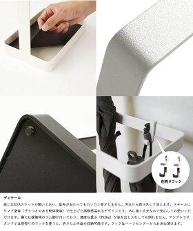 傘立てアンブレラスタンド傘たて[アンブレラハンガーウッドバータイプ(ホワイト・ブラック)](by_sarasa-design)