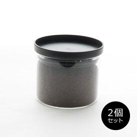キャニスター 保存容器[セット販売●b2c 耐熱ガラス キャニスター S 300ml【2個入り】]密封 コーヒー 砂糖 シュガー 塩 ソルト 紅茶 ティー ティーパック#SL_KT