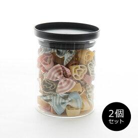 キャニスター 保存容器[セット販売●b2c 耐熱ガラス キャニスター M 500ml【2個入り】]密封 コーヒー 砂糖 シュガー 塩 ソルト 紅茶 ティー ティーパック#SL_KT